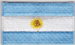 Argentina Embroidered Flag Patch, style 04.